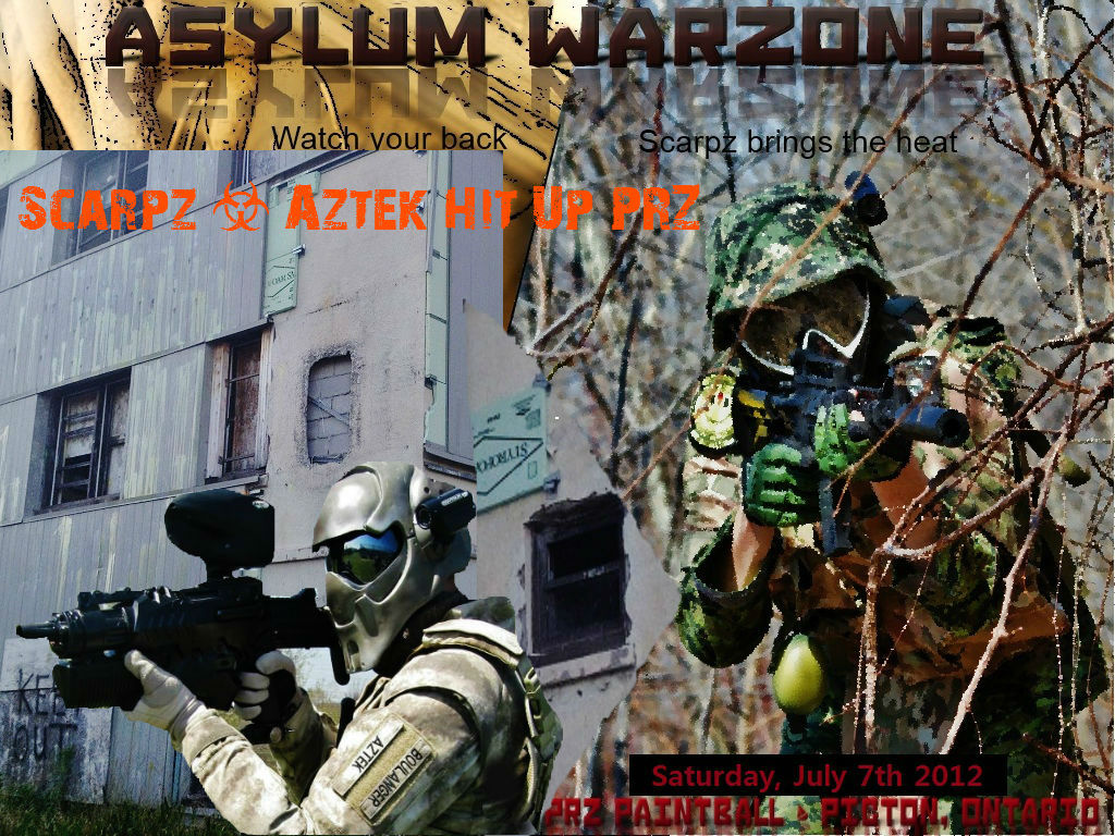 Scarpz Paintball HD First Person Videos PRZ Asylum Warzone Final Battle July 7th 2012 PRZ Prince Edward Recreational Zone Ontario Canada Woodsball Scenario Big Game Event