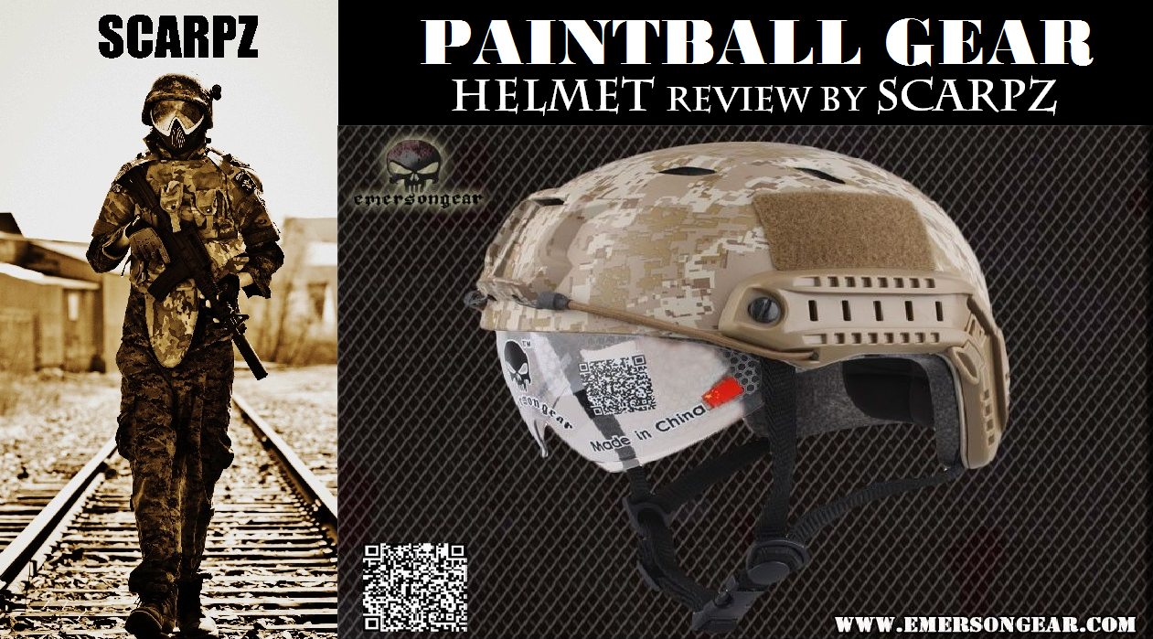 PAINTBALL HELMET: Emerson Gear: Review by SCARPZ Price Cost Find Purchase Cheap Discount Affordable Best Protection Head Camera Camo Airsoft Paintball Army Military Scenario Replica Real Soldier