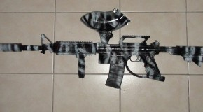 Tippmann 98 Custom M4 – Black & White Tiger Camo Paint Job