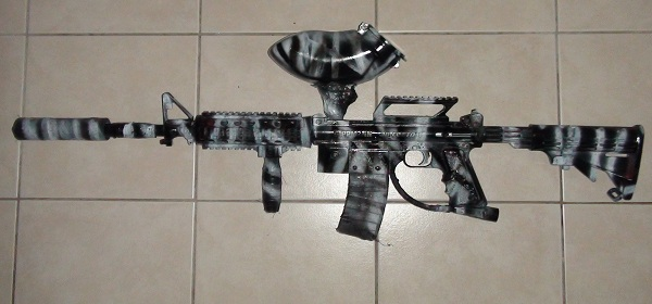 Black & White Tiger Gun Camo – Tippmann 98 Custom M4