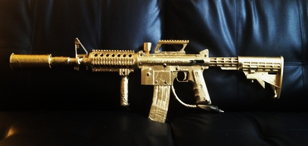 Scarpz Paints His Tippmann 98 Custom M4: GOLD!