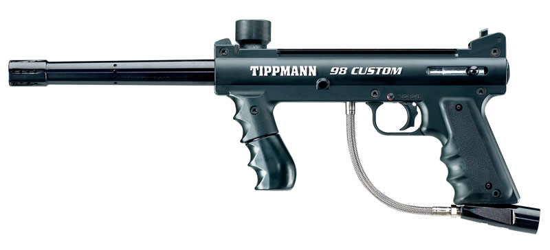 Tippmann 98 Custom Stock Semi-Automatic Paintball Gun Marker Woodsball ...