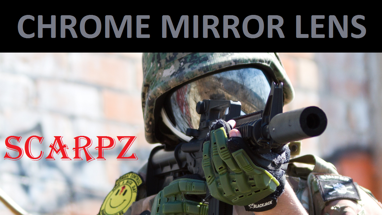 Chrome Mirror Lens For Invert Avatar Paintball Mask Scarpz Paintball First Person Videos HD