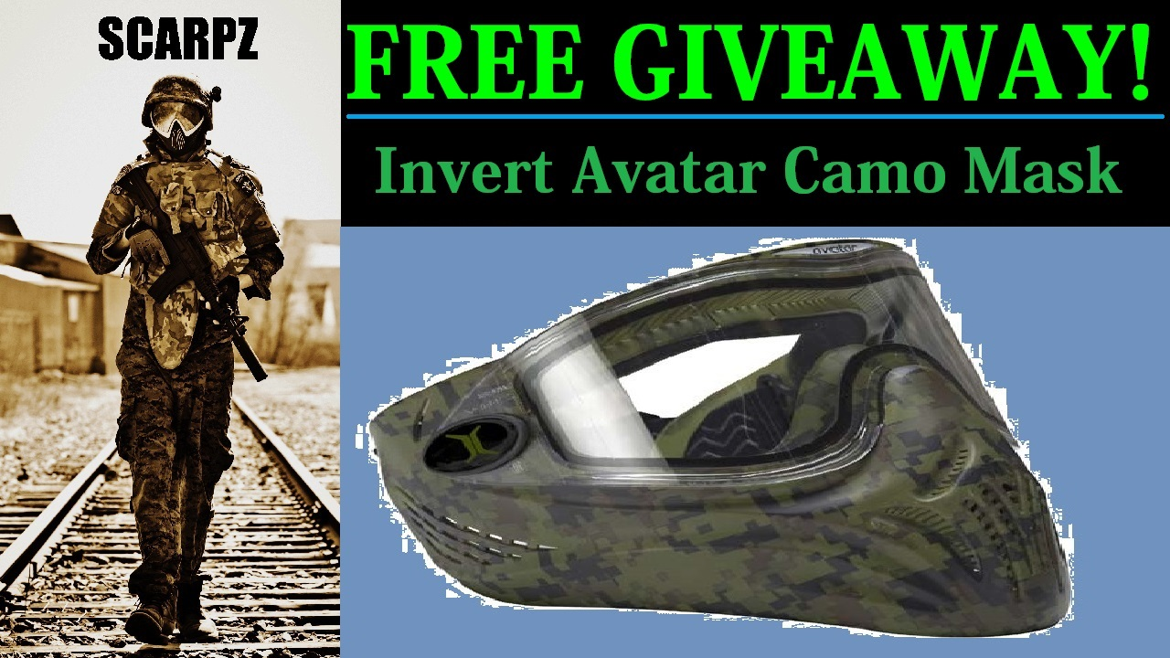 FREE GIVEAWAY Invert Avatar Camo Paintball Mask Scarpz Paintball Contests & Fan Appreciation Enter London, Ontario, Canada