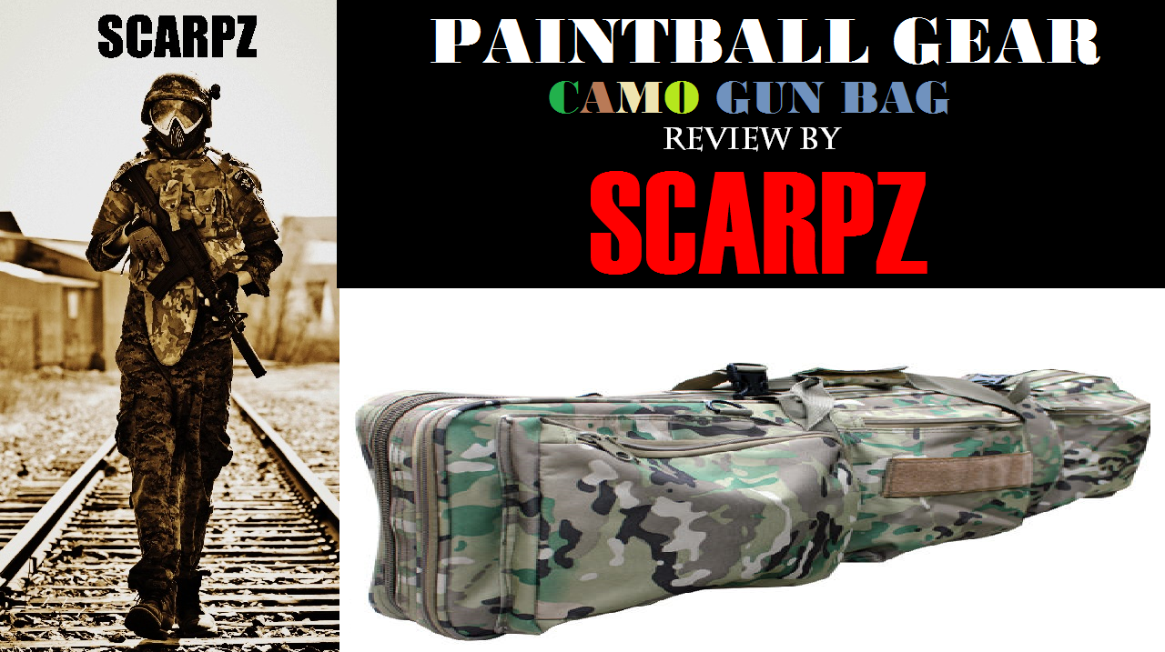 PAINTBALL GEAR: CAMO GUN BAG: Review by SCARPZ Ontario Canada FPS Rental Marker Gun Shooting First Person Videos Awesome Cool Price Cost Buy Online Store