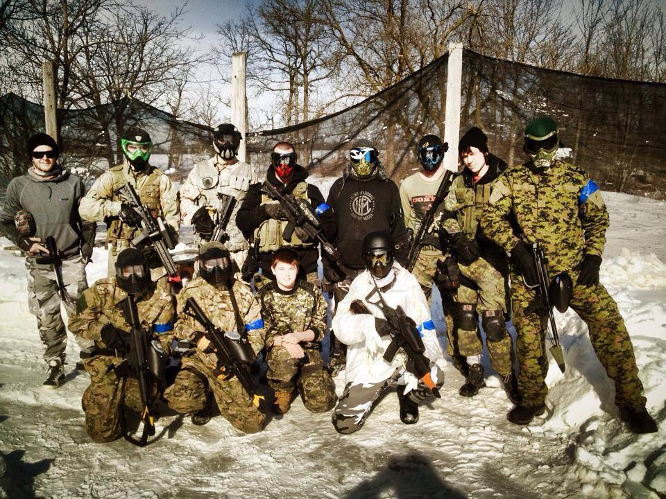 03.09.14 – SOF – March Massacre – Sunday, March 9th 2014 Hamilton Ontario Canada Mount Hope Toronto, Scarpz Paintball , Winter Woodsball, Scenario White Team Squad Tippmann X7 Phenom Jacket Suit Dye I4 Chrome Black Gold Mirror Lens
