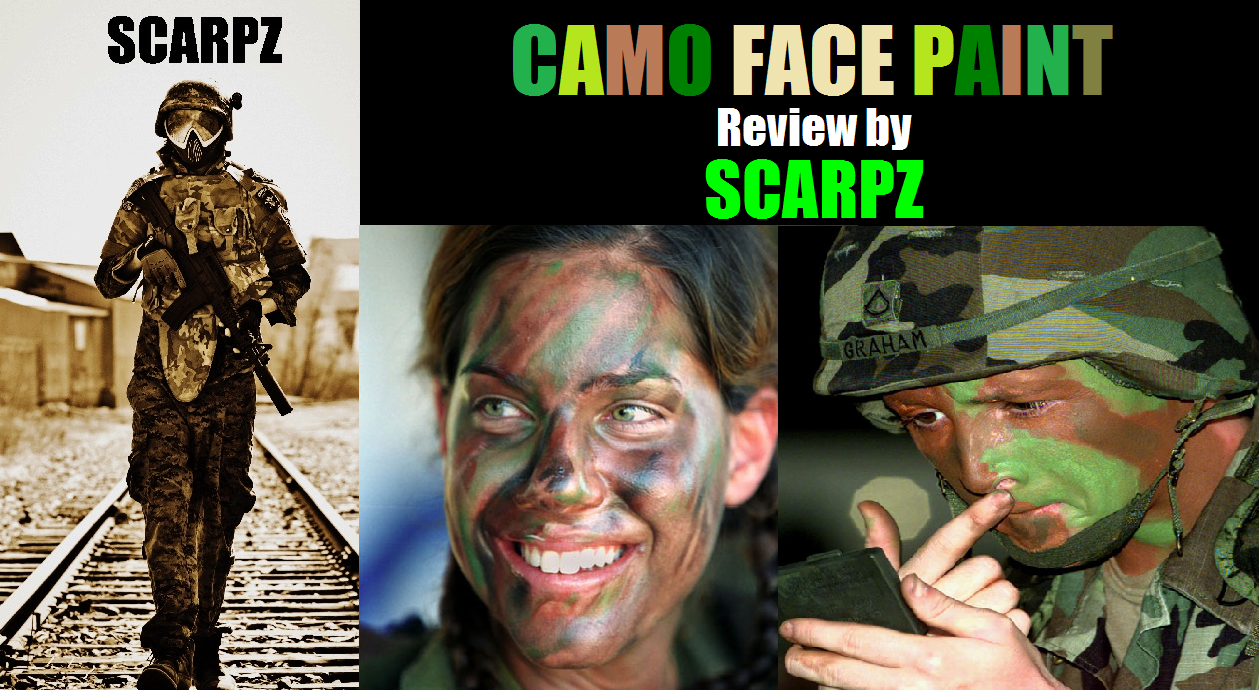 CAMO FACE PAINT: Review by SCARPZ  Military Soldiers 2014 Info Price Cost Buy Online Store Shop Image Pic HD Review Clothes Camo Purchase Win Free Giveaway FREE