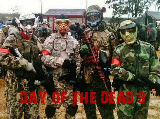 Day of the Dead 9 - Humans vs Zombie FLAGSWIPE Scarpz Paintball Flagswipe Paintball Outdoor Zombie Big Game Scenario Event Sports Athlete Skull Mask Custom How To 2010 Team Zombies Blood Hungry Death Kill