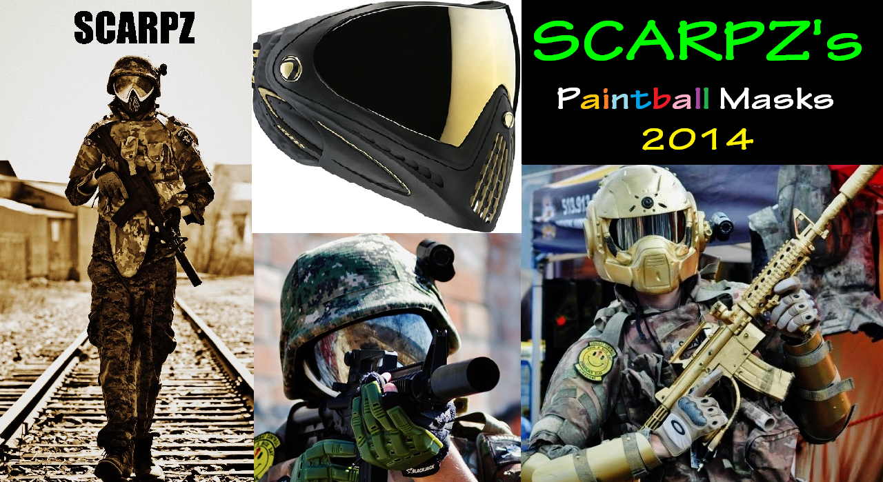 SCARPZ's Paintball Mask's 2014 Dye I4 Black & Gold Mask Mirror Lens BT Invert Avater Special Edition Camo Helmet Gold Gears of war