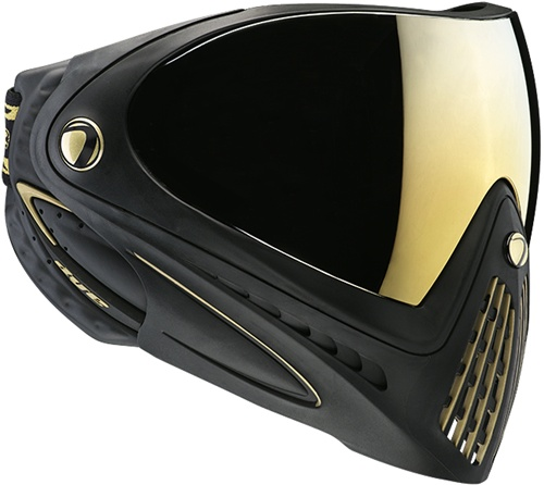 DYE I4 Limited Edition Black & Gold Mirror Lens Chrome Paintball Mask 2014 Pro Affordable Price Buy Online Picture Image Photo Scarpz