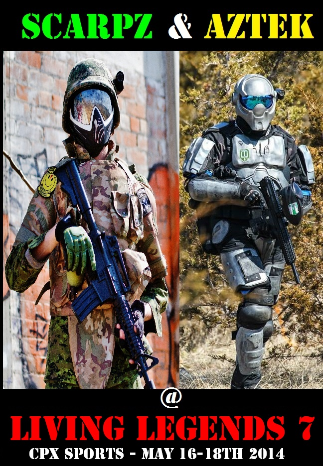 Aztek CPX Sports: Living Legends 7 [Chicago, Illionois] SCARPZ AZTEK Matt Scarpelli May 16-18 2014 Joliet Big Game Event Bedlam Town Tippmann Valken Dye