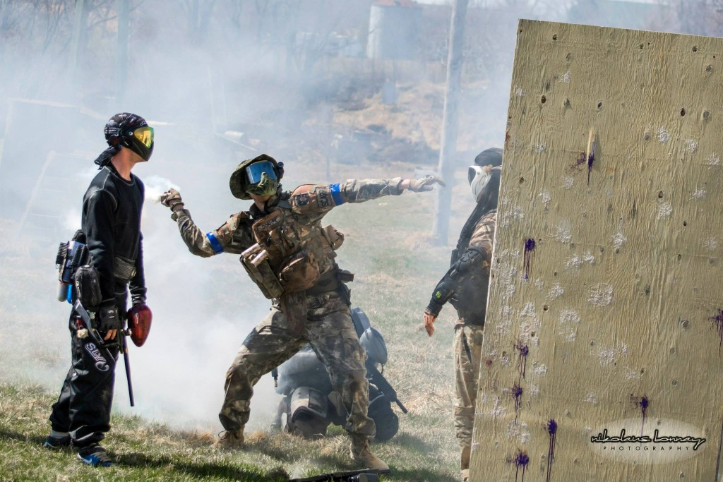 Tactical Smoke Grenade In Action Sport Smoke GENERAL SCARPZ: KILLING SPREE @ Day of Redemption Hamilton Ontario Day of Redemption SOF Soldiers of Fortune Sick Kids Hospital Foundation Brain Tumor Research Matt Scarpelli