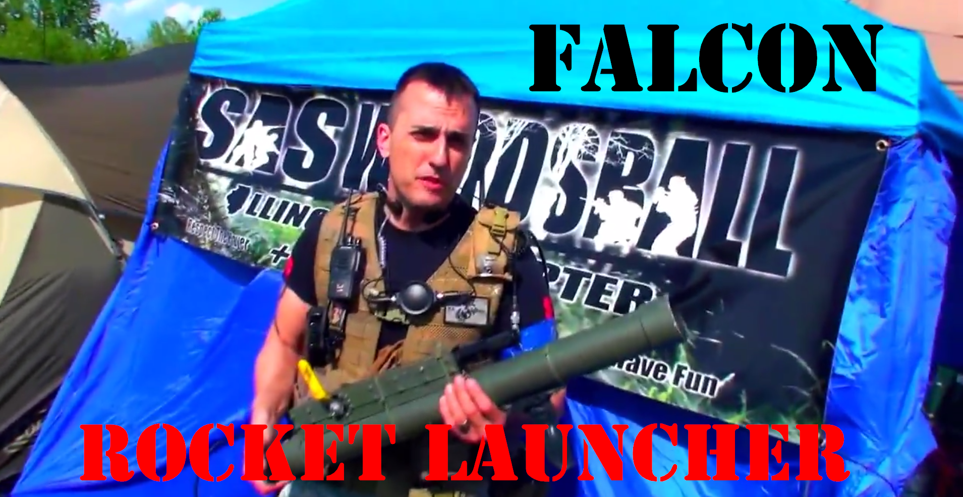 Falcon Custom Rocket Launcher LAW Paintball CPX Sports: Living Legends 7 [Chicago, Illionois] SCARPZ Matt May 16-18 2014 Joliet Big Game Event Bedlam Town Marine Soldier