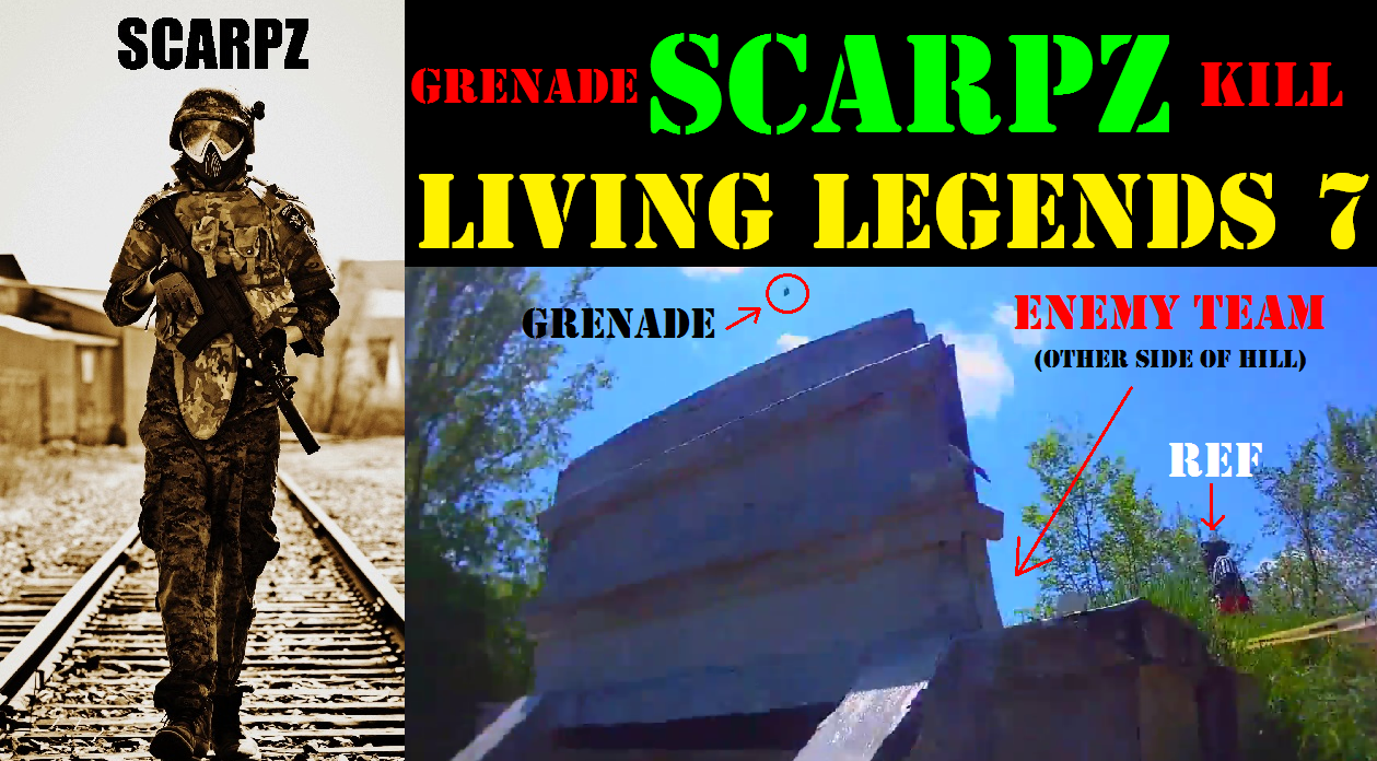 SCARPZ Grenade Kill @ Living Legends 7 CPX Sports Joliet Illinois Matt Scarpelli Scarpz London Ontario Canada Canadian Male Guy Boy Paintballer Hot On Fire Fast Quick Sharpshooter Tippmann X7 Phenom G36 Kit Final Battle LL7 Professional Athlete London Ontario Sports Star Superstar Hero Grenade Kill