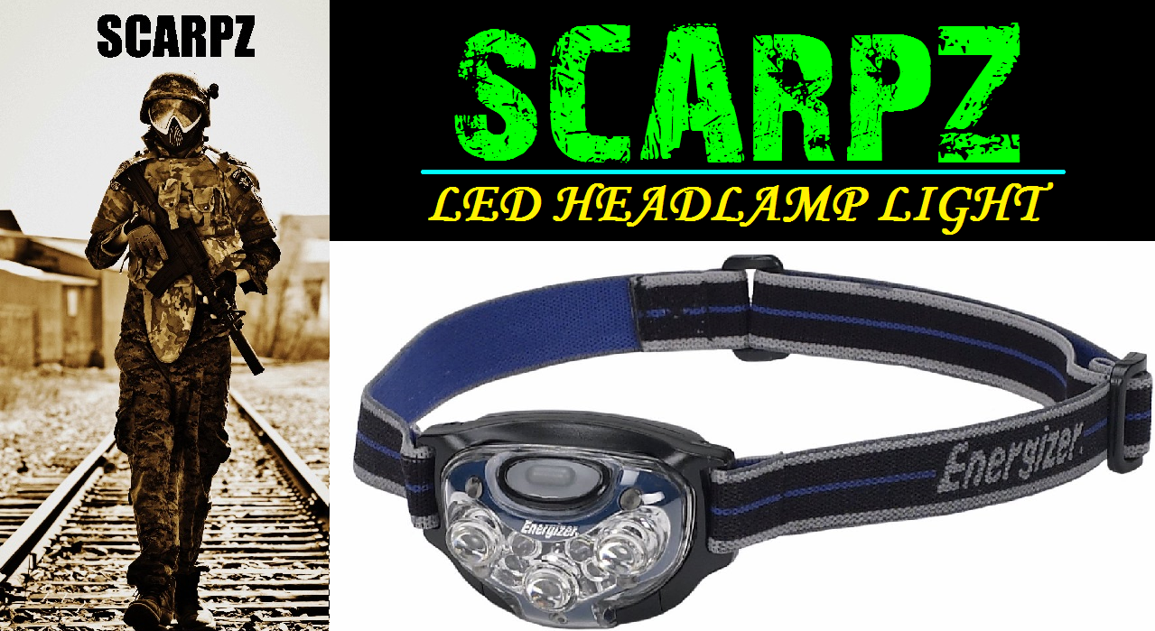 SCARPZ Red LED Tactical Headlamp Light Review PAINTBALL Review By SCARPZ Military Soldiers 2014 Info Price Cost Buy Online Store Shop Image Pic HD Review Camo Purchase